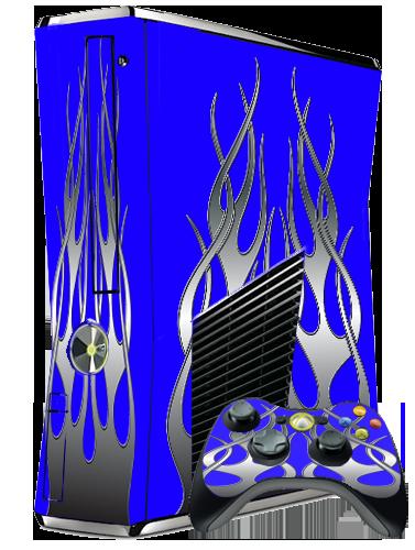 DIGIWRAP XBOX 360 SKIN KIT - BLUE FLAMEXbox 360 Slim Blue