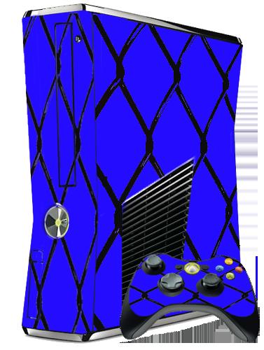 new xbox 360 slim skin mma cage blueXbox 360 Slim Blue